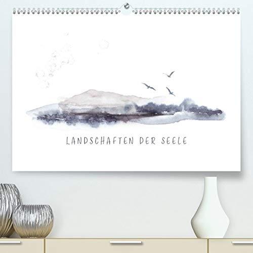 Landschaften der Seele (Premium, hochwertiger DIN A2 Wandkalender 2020, Kunstdruck in Hochglanz): Abstrakte Aquarell-Landschaften und Texte laden zum ... (Monatskalender, 14 Seiten ) (CALVENDO Kunst)