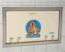 product image for Horizontal Changing Station with Stainless Steel Flange Recess Mount Color: Cream