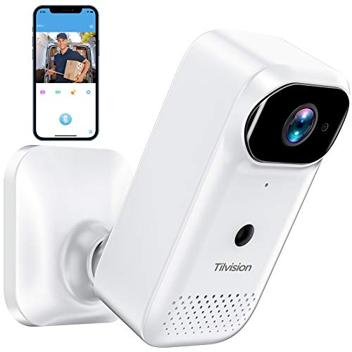 WLAN Kamera,WiFi Full HD 1080P WLAN Überwachungskamera für Haustier, wiederaufladbar Sicherheitskamera mit Nachtsicht,Zwei-Wege-Audio,Baby Monitor, SD Kartenslot,& Bewegungserkennung