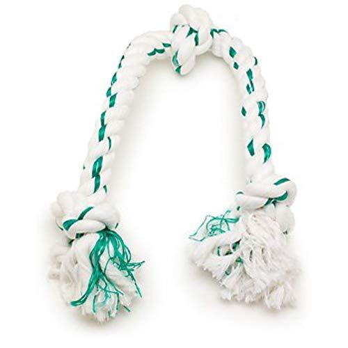 Booda Fresh N Floss 3 Knot Tug Rope Dog Toy,...