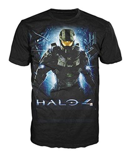 Halo 4 T-Shirt -M- Master Chief with Logo,schwarz