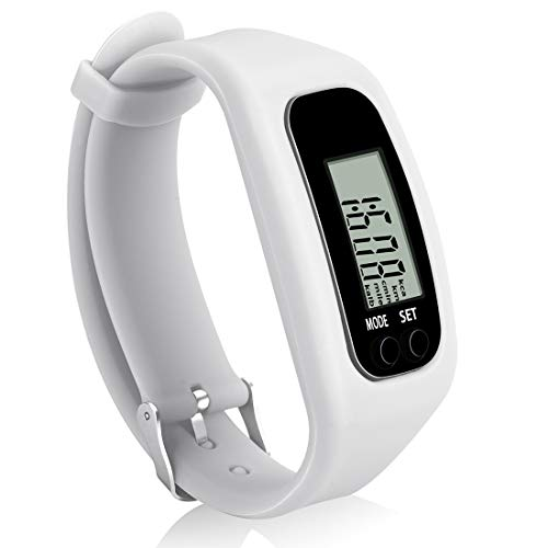 Bomxy Fitness Tracker Watch, Operation Walking Running Pedometer with Calorie Burning and Steps Counting (ff66-white)