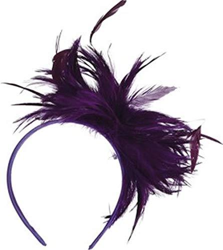 Serre-tête avec plumes violet