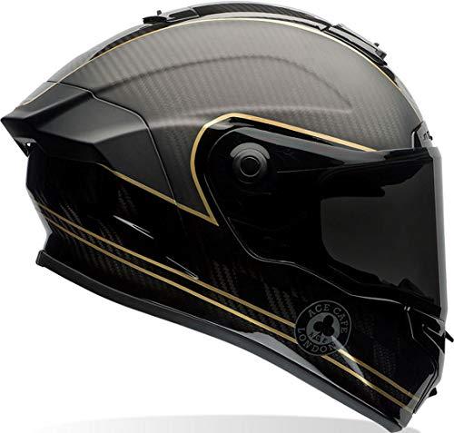Bell 7069592 Casco para Moto Racestar Speed Check, Negro Mate/Dorado, M