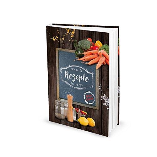 Receptenboek klein om zelf te schrijven, favoriete recepten, goede appetit, kookboek, eigen recepten, DIN A5 Hardcover cadeau, keuken, gezonde voeding, koken