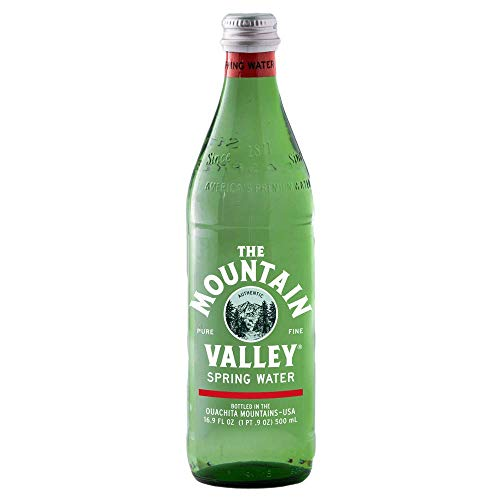 Mountain Valley, Spring Water, Glass Bottle, 16.9 ounces (Pack of 12)