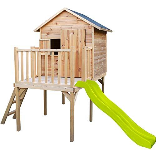 Cabaña de madera para niños piloti y tobogán – Charlott