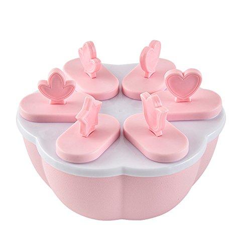 Moule à sucettes 6 cellules pour la cuisine La Reine des neiges rose