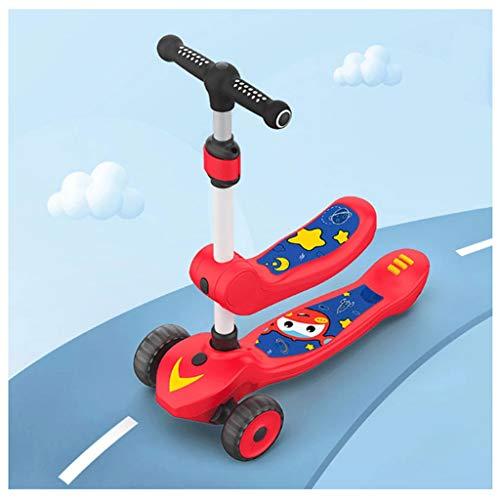 LZL Roller für Kinder Kann sitzen und reiten Kleinkind Roller (Color : Red)