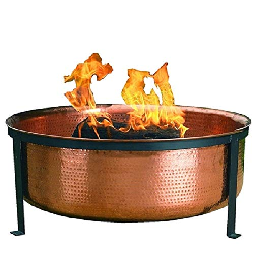 CHOOSEandBUY Solid 100-Percent Copper Fire Pit with Stand...