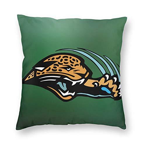 """Griffithnelle White Square Pillow Jacksonville Jaguars 24""""x24"""" Best Pillow Super Soft Backrest Pillow"""