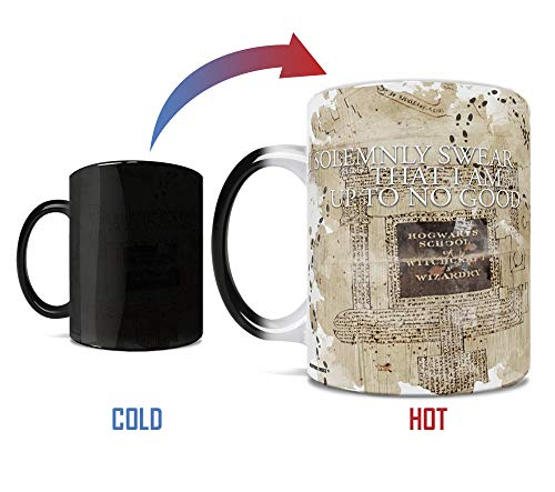 Harry Potter - I Solemnly Swear I Am Up To No Good - Marauders Map - Mischief Managed - Morphing Mugs Heat Reveal Color Changing Morphing Mug - 11 Ounces