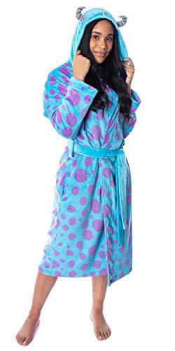 Disney Adult Monsters Inc Sulley Costume Ultra-Soft Fleece Plush Hooded Robe Bathrobe