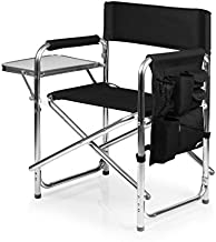 PICNIC TIME ONIVA - a Brand Portable Folding Sports Chair, Black