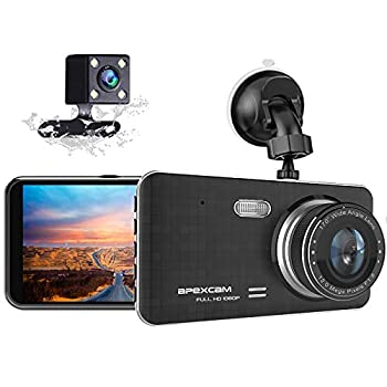 Dash Cam for Car Front Rear Dual Car Camera 4  IPS 1080 Driving Recorder 170°Wide Angle with Backup Camera,G-Sensor WDR Loop Recording,DVR Parking Monitor,Night Vision,Motion Detection[2021 New]
