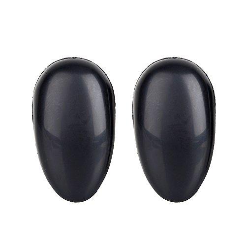 Zerone 1 Par De Tratamiento Para El Cabello Orejeras Protector De Oreja De Plástico Cubre Las Orejas Protector Para La Peluquería Casera, Negro