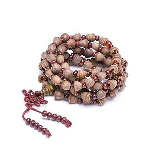 JONJUMP Nepal Bodhi Pulsera 108 Rosario Budista Tibetano Collar Fragancia Natural Mala Healing Oración Pulsera para hombres y mujeres