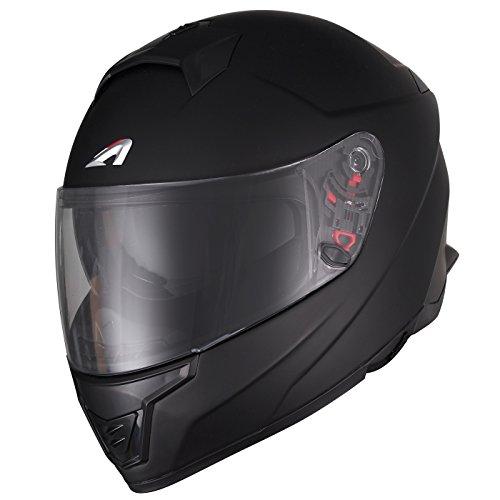 Astone Helmets Motorradhelm Faser gt1000fm, schwarz glänzend, Größe XL