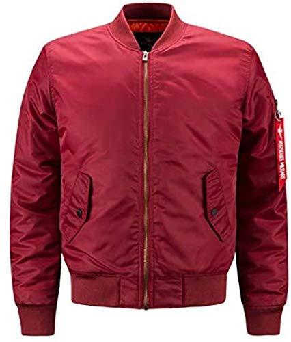 Fashion Jacket Men Warm Padded Airborne Flight Jacket Winter Blue Motorcycle Coat 8XL