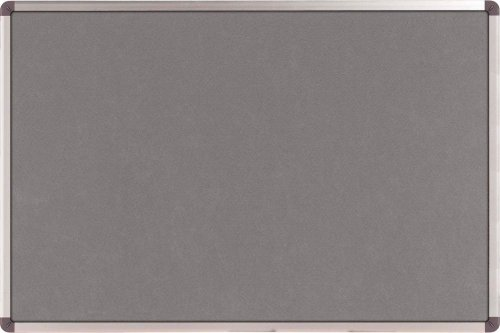 Nobo Elipse 1900912 Pinnwand Filz (Aluminiumrahmen, 1200 x 900 mm) grau