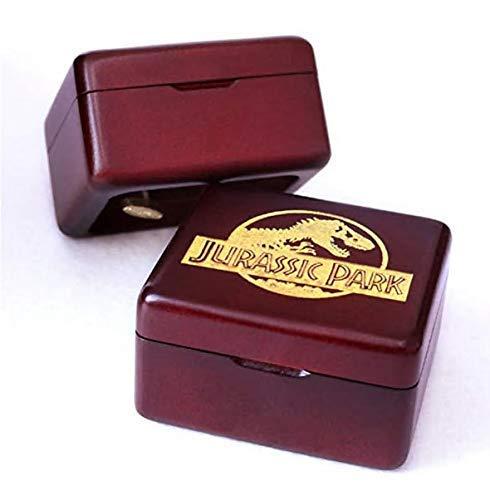 Spieluhr Handgefertigt Aus Holz Jurassic Park Spieluhr Geburtstagsgeschenk FürWeihnachten, Geburtstag, IndividuellGravierte Personalisierte Geschenk