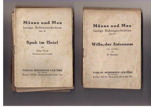 Männe und Max, lustige Bubengeschichten ( Konvolut von 26 Heften OHNE farbigen Umschlag , Einzelverkauf siehe Beschreibung )