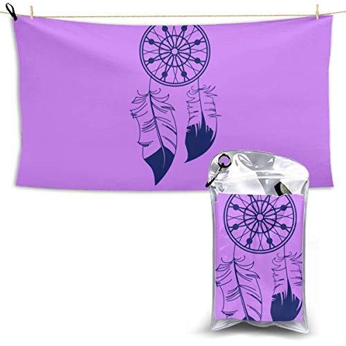 XCNGG Toallas de baño de secado rápido Toallas de baño para el hogar Toallas Quick Dry Bath Towel, Absorbent Soft Beach Towels, Dream Catcher for Camping, Backpacking, Gym, Travelling, Swimming,Yoga 2