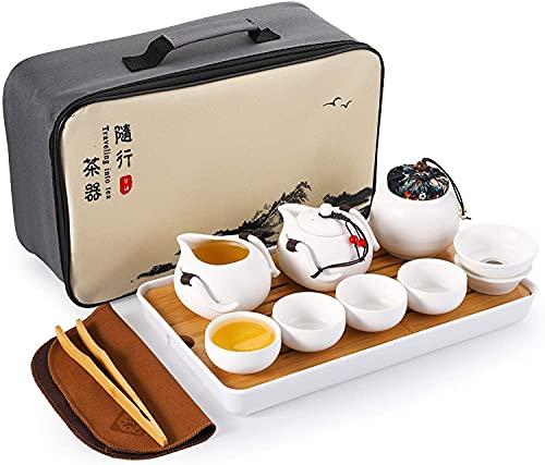 Draagbare reizen thee set hoge temperatuur vuren gemaakt van keramische kung fu thee set geschikt voor reistassen…
