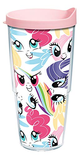 Tervis My Little Pony-All Over Pattern Insulated Tumbler, 24oz, Clear-Tritan