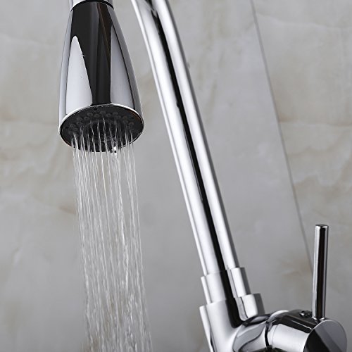 Wasserhahn ICOCO 360°Schwenkbereich Einhebel Wasserhahn Küchenarmatur Einhandmischer Spüle Küche mit herausziehbarem Brausekopf Armatur - 6