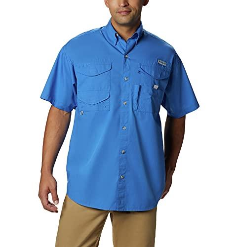 Columbia Standard Men's Bonehead Short-Sleeve Work Shirt, Comfortable and Breathable, Vivid Blue, Medium