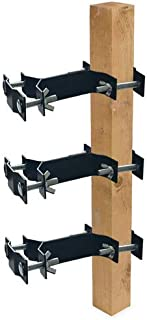 Foozet Umbrella Clamp, Outdoor Universal Pole Mount Deck Umbrella Holder - Attaches to Railing Maximizing Patio Space, 3 Pack