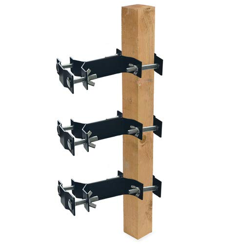 Foozet Umbrella Clamp, Outdoor Universal Pole Mount Deck Umbrella Holder - Attaches to Railing Maximizing Patio Space, 3 Pack