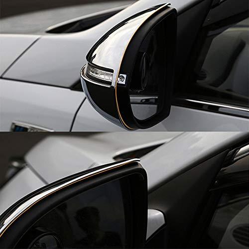Gnnlor Carcasa del Espejo retrovisor Lateral Cromado ABS Car Styling Car, para Kia Sportage 2011-2016