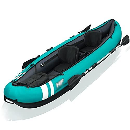 ZXQZ Kayak Kayak Inflable, Juego de Canoa Plegable para 2 Personas, Bote de Goma para Deportes Acuáticos, Balsa de Pesca En El Mar para Adultos