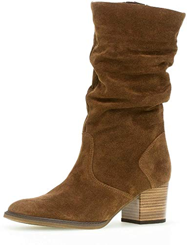 Gabor Damen Stiefel 32.894, Frauen Stiefel,Boots,Lederstiefel,Langschaftstiefel,Reißverschluss,Whisky (Mic/S.amb),42 EU / 8 UK