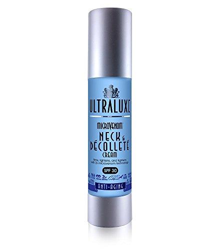 ULTRALUXE SKIN CARE Microvenom Neck & Decollete Cream with SPF 30, 1.75 oz