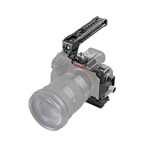 SMALLRIG Kit maestro de accesorios de media jaula para cámara, con media...