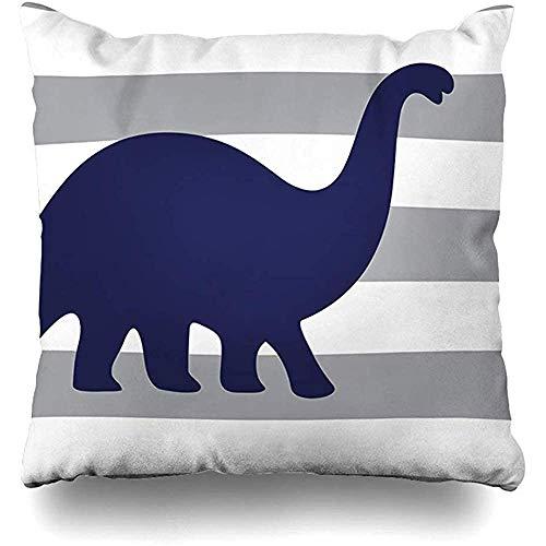 GodYo kussenslopen 1 pak streep Dino Rawr betekent dat ik hou van je in dinosaurus grijs kinderkamer kussensloop sofa lief