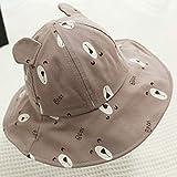 FUFU ハット 帽子 キャップ 盾を持つ子供の保護キャップ、ベビーアンチ唾吐きバケットハット防護マスク、0-5Years古いのためのボーイズ&ガールズフェイスシールド防塵アンチ唾液キャップ 漁師帽 (Color : Bear-brown, Size : 5-12 month)