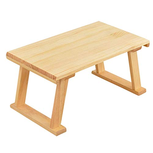 CHHD Sofa Side Tables, Balcony Low Table, Wooden Bed Tray Table Home Laptop Desk for Dormitory Bedroom Book Room Balcony Leisure Reading Table Design Lounge Table Snack Table