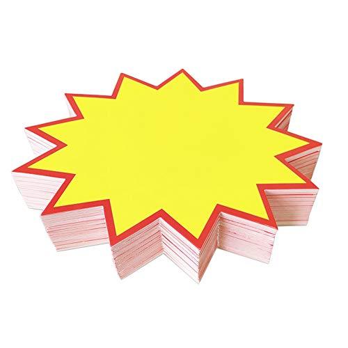 JIHUOO 200 Stück Verkaufsschilder Preisetiketten Display Merchandise Schilder für Verkaufsförderung