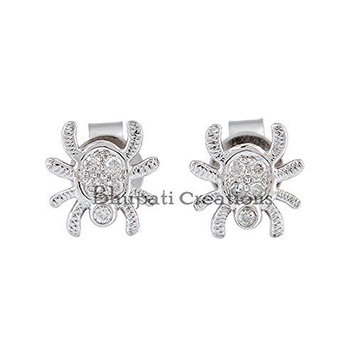 Diamond Spider Stud Earrings, Design Stud Earrings, 925 Silver Stud Earrings, Pave Diamond Stud Earrings, Women Stud Earrings Jewelry
