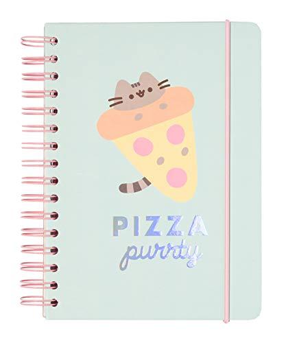 Bullet Journal Pusheen Foodie Collection, quaderno A5 con copertina rigida e chiusura elastica, 180 pagine, carta d'avorio di alta qualitá, ideale come agenda