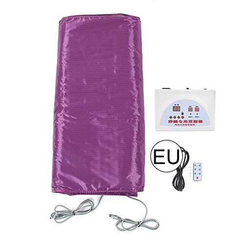 Far Infrarood sauna verwarmingsdeken lichaam afnemen verwarmingsdeken voor Weight Loss Body Shaper Afslanken Fitness Anti-aging machine (Purple) EU
