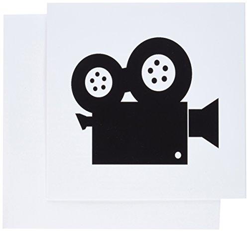 3dRose gc_173990_2 Grußkarten, Bild von Filmkamera-Kunst, 12 Stück