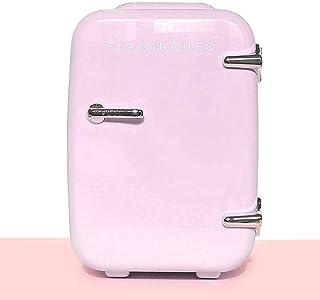 Flamingueo Mini Frigo de Chambre - Petit Frigo 4L, Mini Frigo Cosmetique, Frigo Portable, Réfrigérateur Électrique Portabl...
