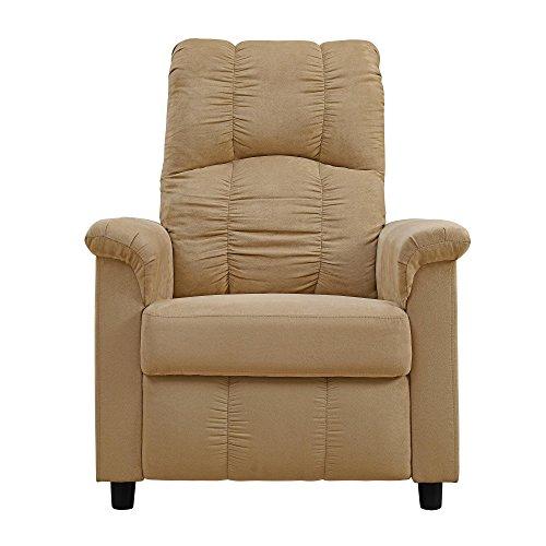 Dorel Living Beige Slim Recliner Chair