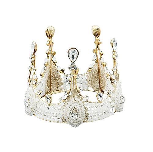 JORCEDI Queen Tiara Crown Headgear Birthday Cake Topper Decoration Crystal Children Hair Ornaments for Wedding Birthday Baby Shower Party Cake Decoration