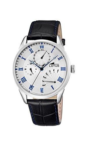 Lotus Herren Analog Quarz Uhr mit Leder Armband 10131/2